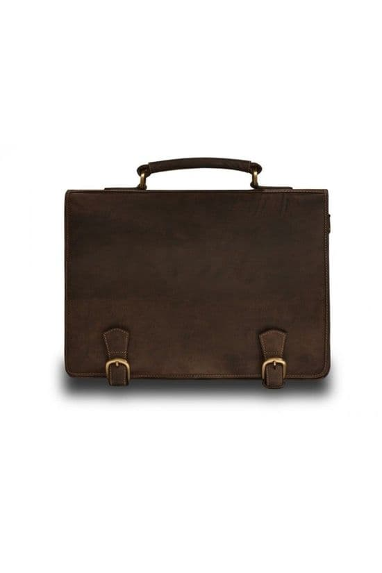 Visconti Oiled Leather Briefcase